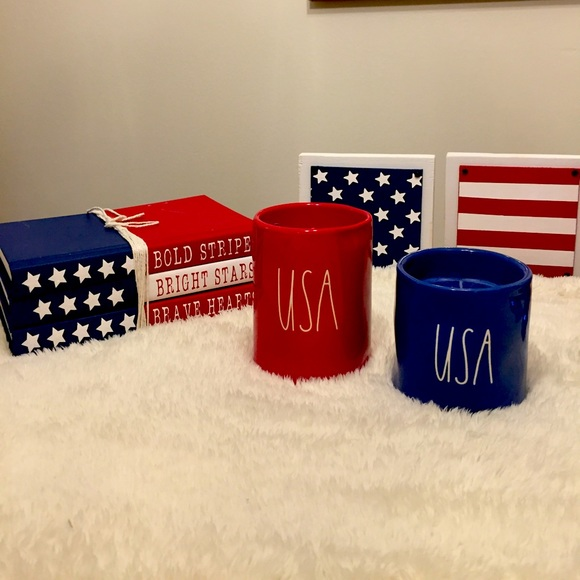 Rae Dunn USA Candle Red Blue🇺🇸Don't 4get to vote